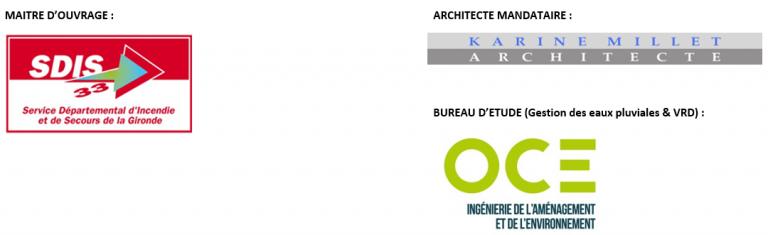 Logos maître d'ouvrage, maître d'oeuvre et bureau OCE