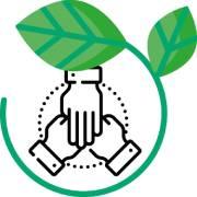 icône de collaboration dans l'esprit du développement durable