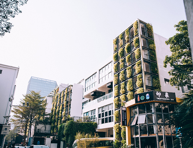Image de bâtiment végétalisé